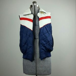 Vintage Sears Red White & Blue Puffer Vest